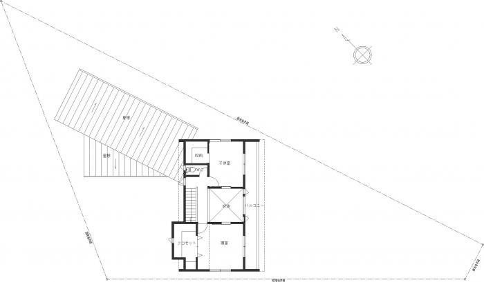 白河の家・2階平面図