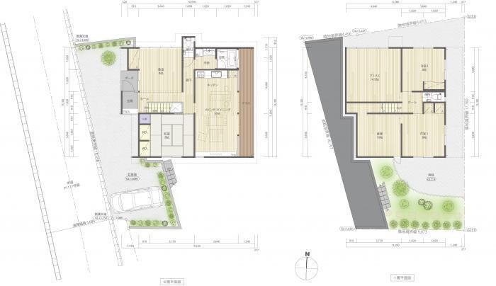 道路寺の家・平面図