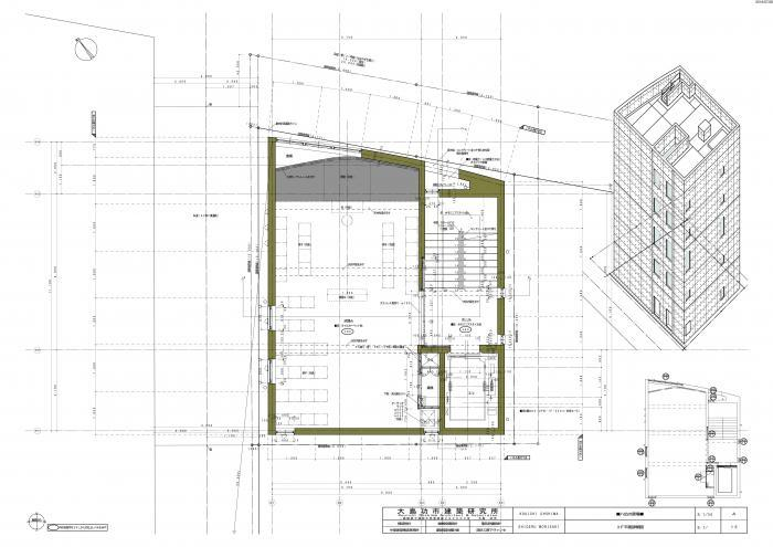 東京下町の葬祭場(八広の斎場)・3階平面図