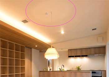天井への配光が照明効果を上げる