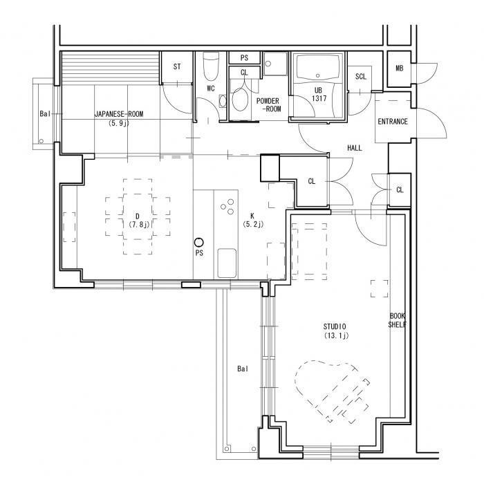 京都M邸リモデル・アフター・平面図