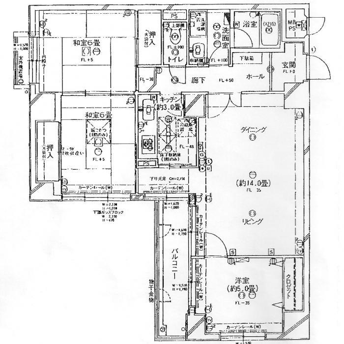 京都M邸リモデル・ビフォー・平面図