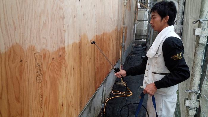 ホウ酸による防腐、防蟻工事