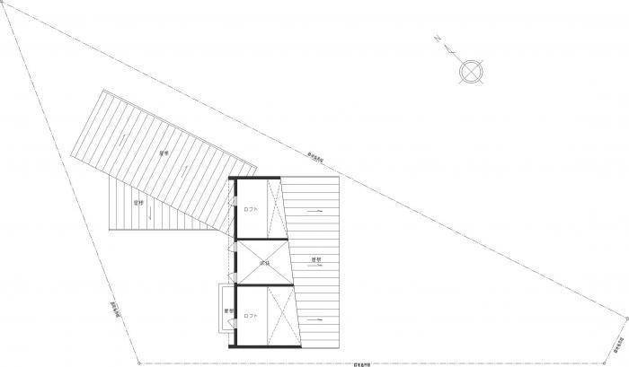 白河の家・ロフト平面図
