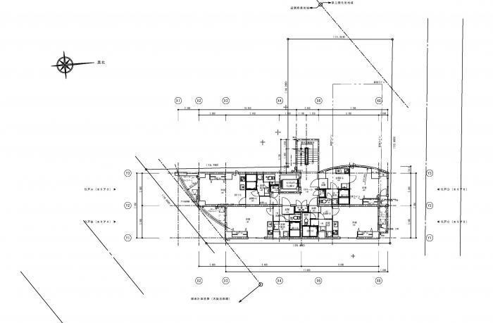 Lohasなワンルームマンション・4-6階平面図