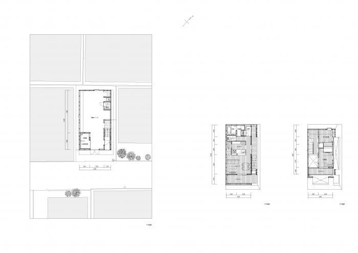 大森の工場付住宅・平面図