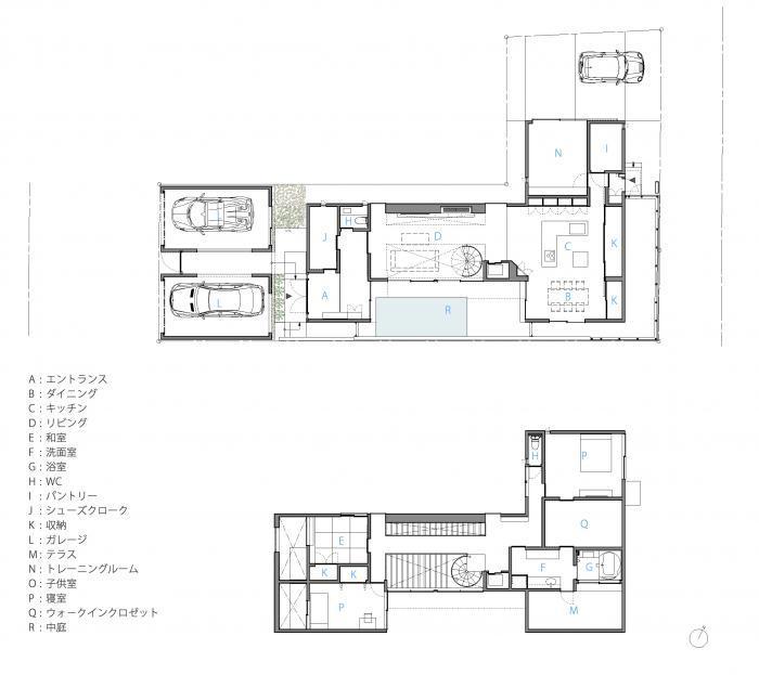 吹田の家_木漏れ日のプールサイドハウス