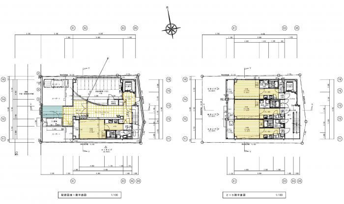 借景のあるワンルームマンション・平面図