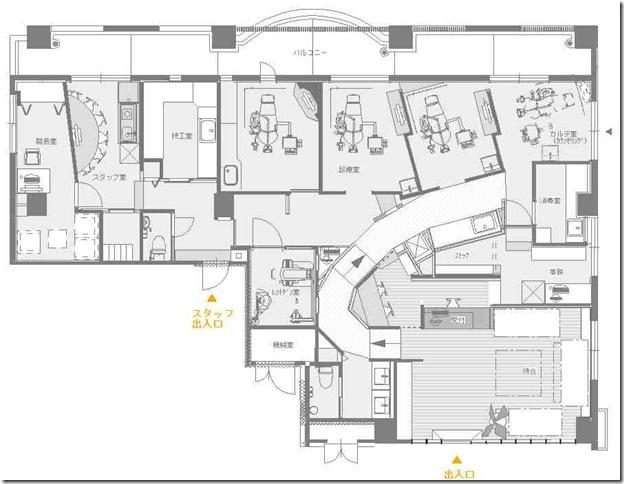 タカサゴデンタルオフィス・平面図