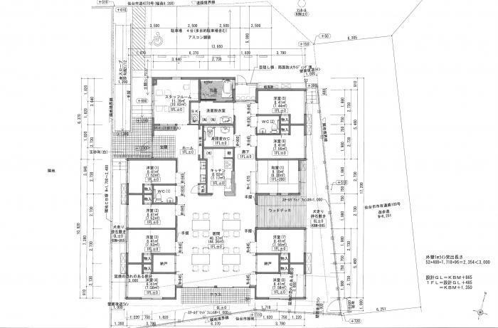 T小規模多機能型居宅介護事業所・平面図
