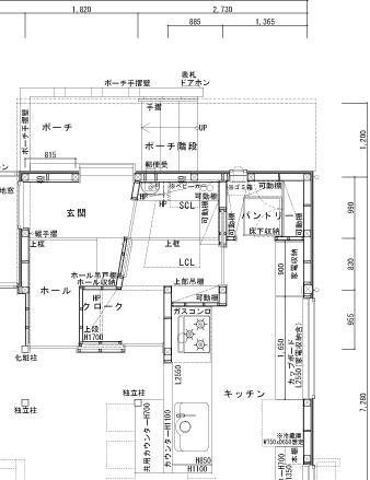 ホワイトアクア/西尾・パントリー・平面図