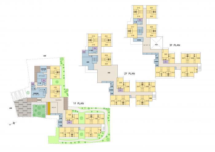 サービス付き高齢者向け住宅・全体平面図